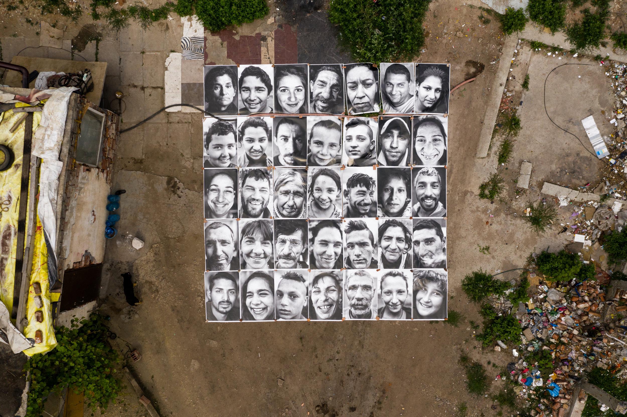 Art action in July 2019 on Gradinite Street in the Orlandovtsi neighbourhood.