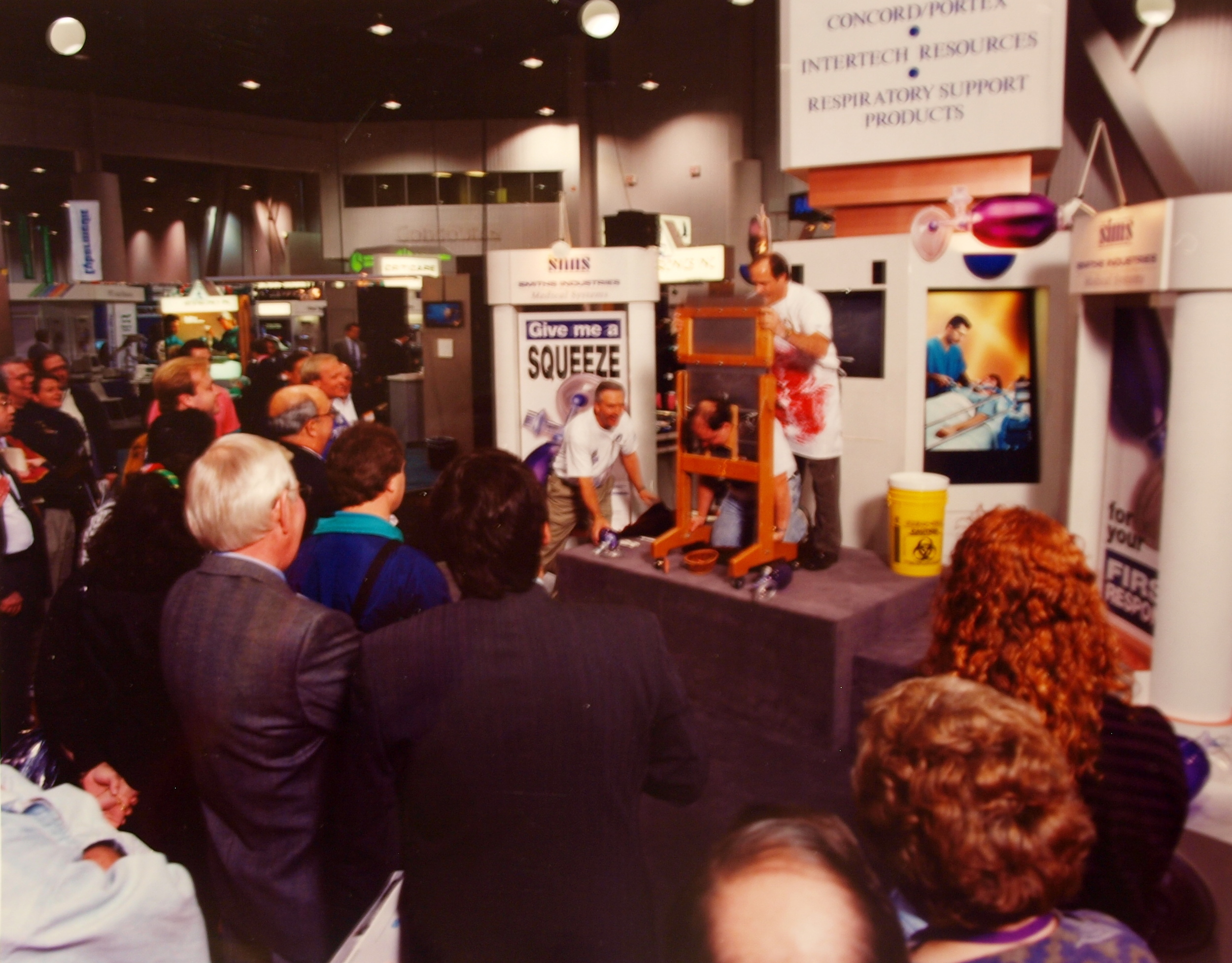 Magical product demonstration at medical convention