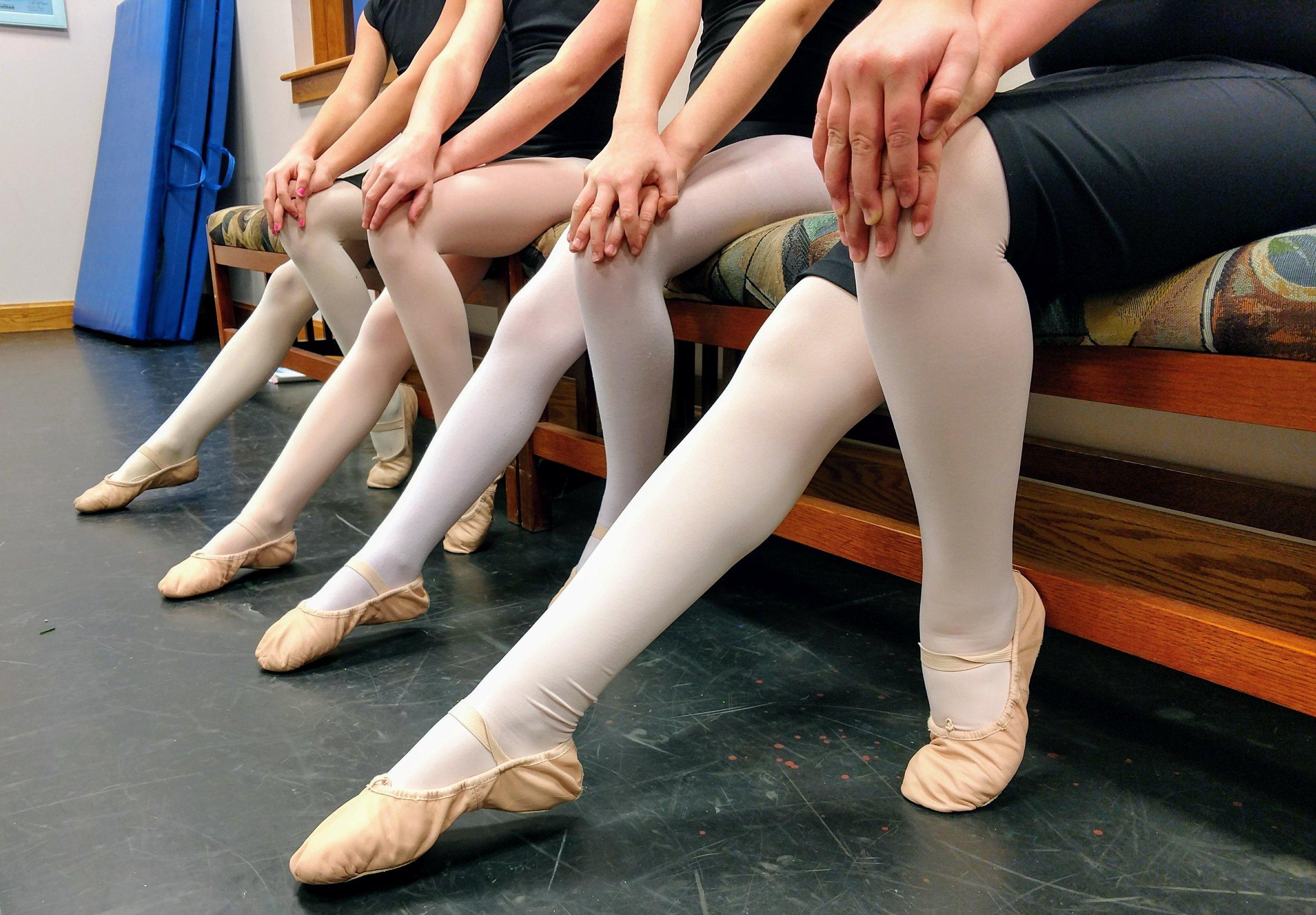 Ballet I dancers on bench.jpg