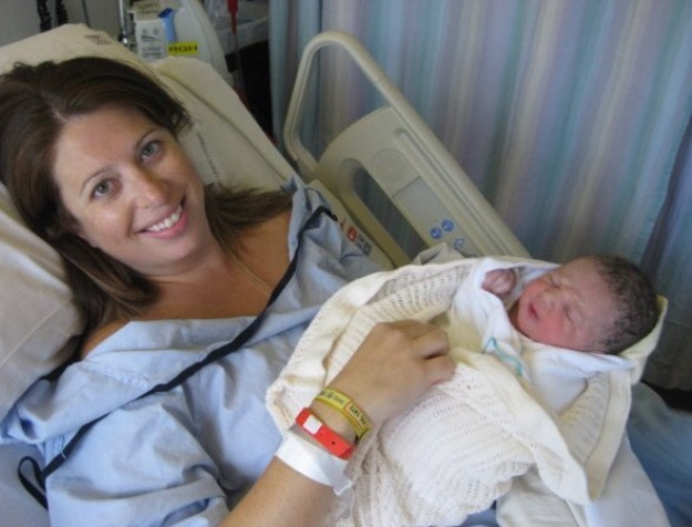 The day I gave birth to my third daughter Maya Ferne!