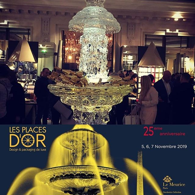 We are proud to be exhibiting at the 25th anniversary of the Luxury Packaging & Design Show  @lesplacesdor. Today is the last day to see us and @monroltd at @lemeuriceparis - we are by this magnificent ice sculpture 🥂🍾⛲ #luxury #luxurypackaging #icesculpture #fountain #fontaine #glace #sculpture #lesplacesdor #lemeurice #champagne #placesdor #theabsolutegroup  Image credit: @leurresexquis