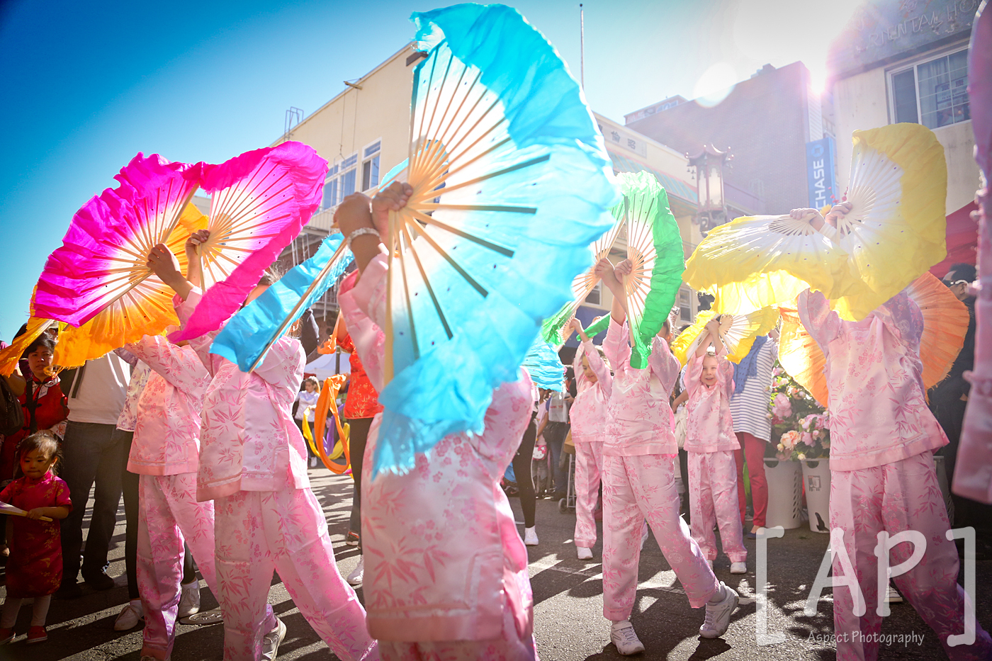 West Portal Elementary's Chinese Performing Arts Program @ Chinatown's LunarNew Year Mini Parade - 2/14/15