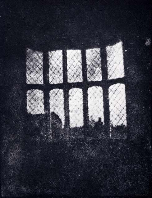 Latticed window at Lacock Abbey-William Fox Talbot (1800-1877)