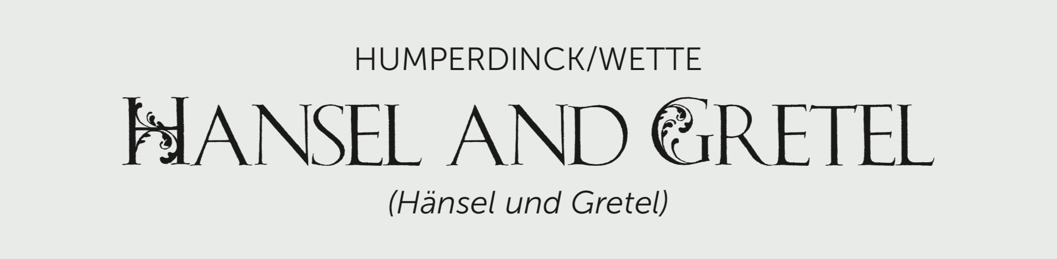 Hansel and Gretel Title Bar