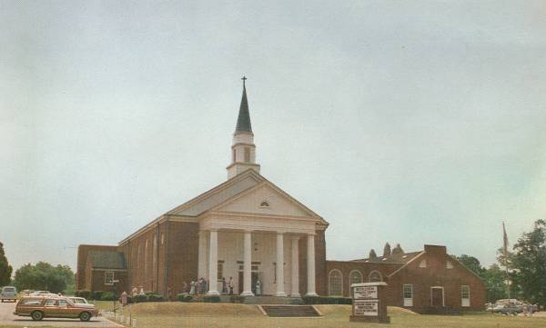 Educational Wing constructed on the west side of the Sanctuary in 1971