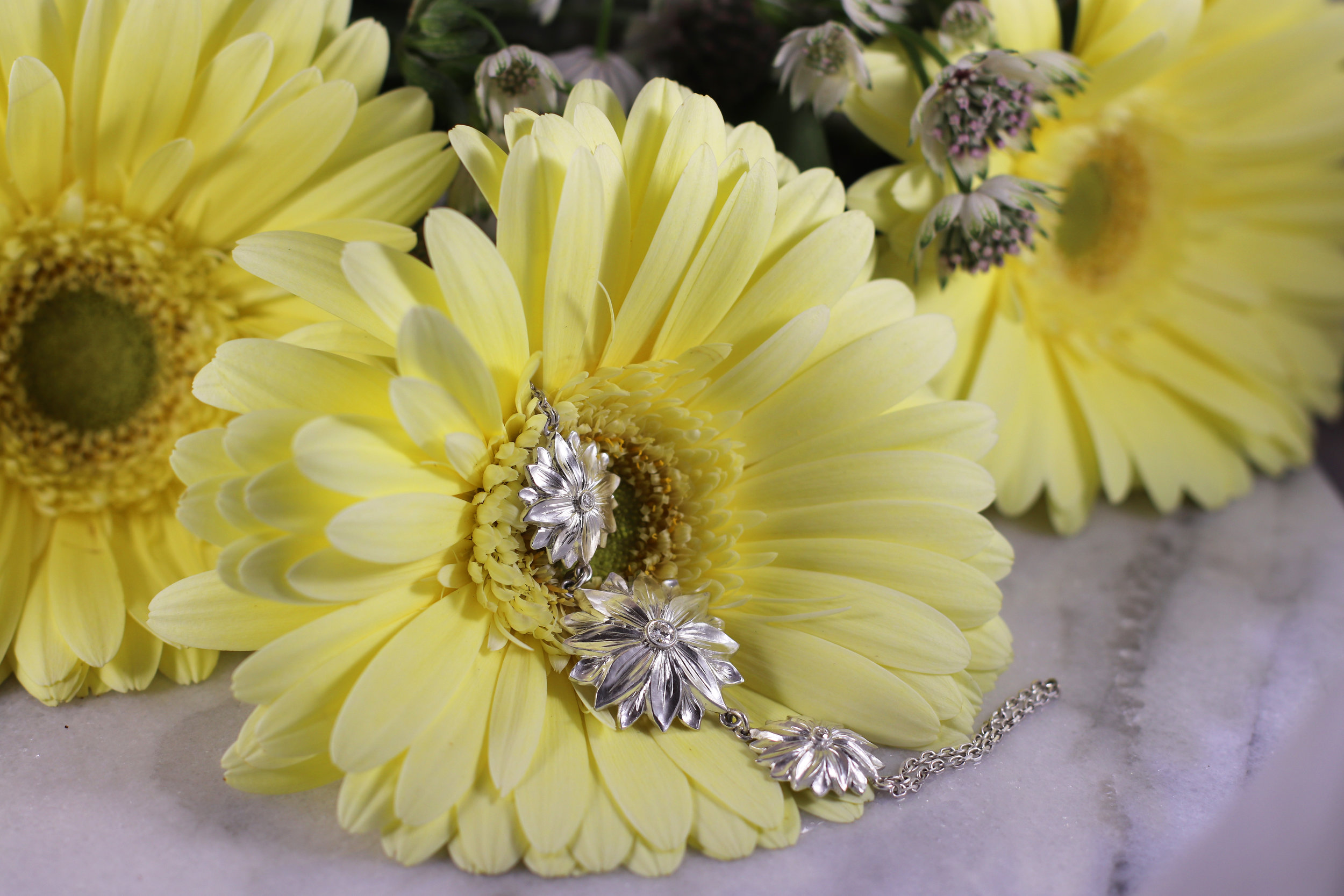 """Sunflower Bracelet"" - Click image for description"