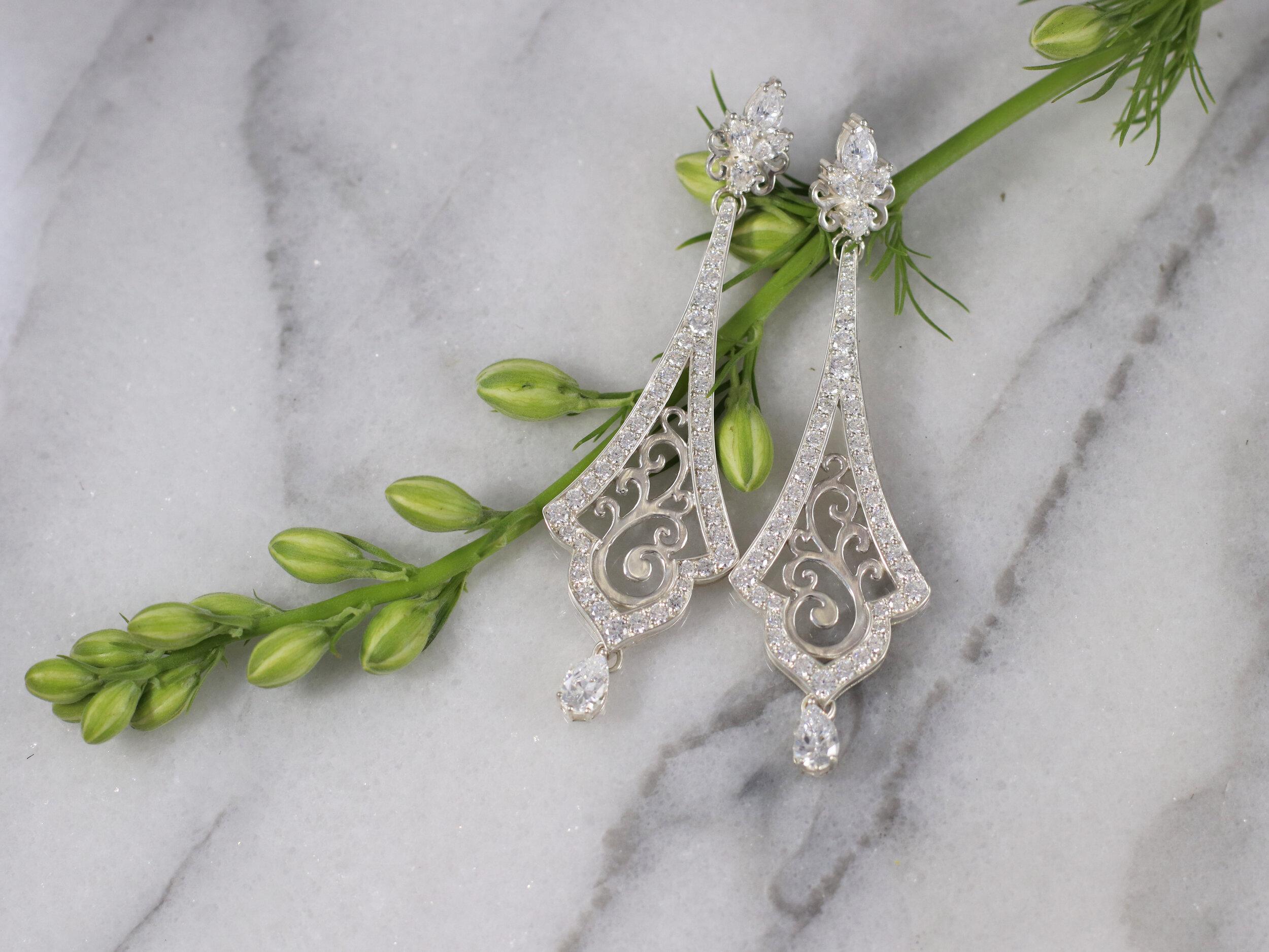 """""""Trefoil Cluster Earrings"""" - Click image for description"""