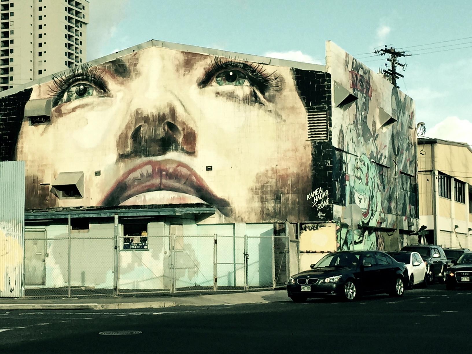 Street art in the  Kakaako  neighborhood, Honolulu.