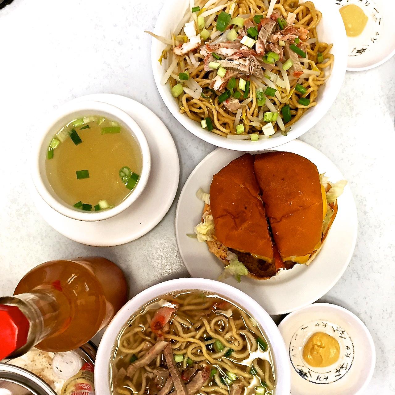 Best Saimin noodles (Hawaiian ramen) at ' Sam Sotos' -Maui!