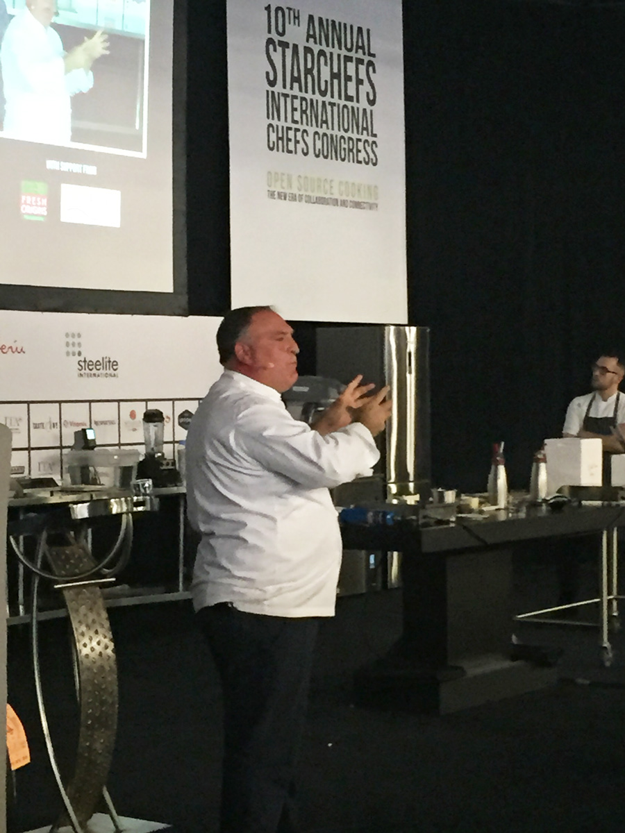 The one and only Jose Andres on main stage (not the best photo).