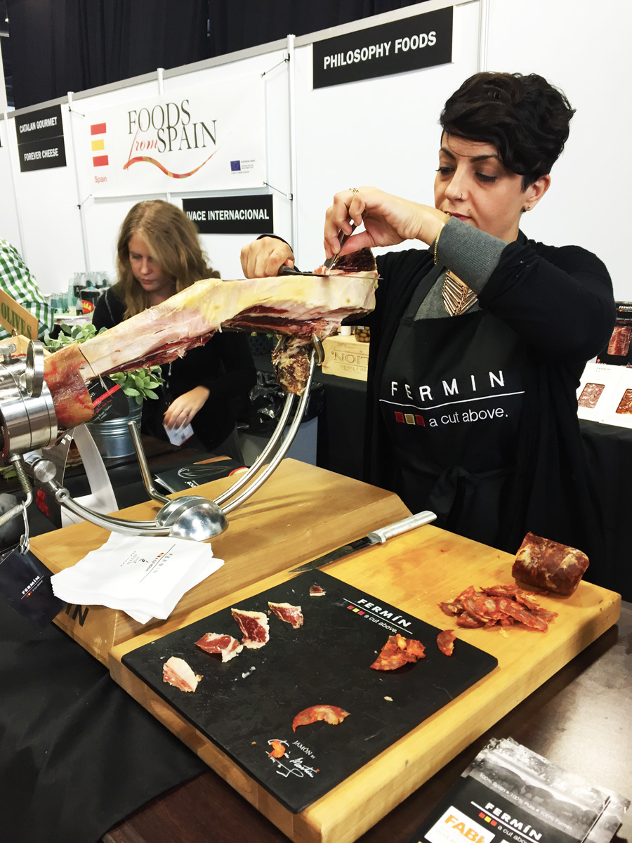 Amazing Jamon from the Spain booth.