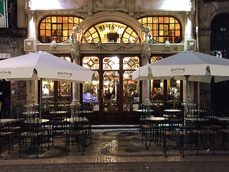 Cafe Majestic in the heart of Porto - since 1921 and has not lost its charm!