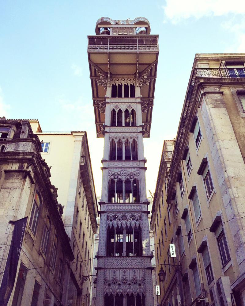 Took the lift at 'Elevador Santa Justa' Lisboa. Amazing view from the top!