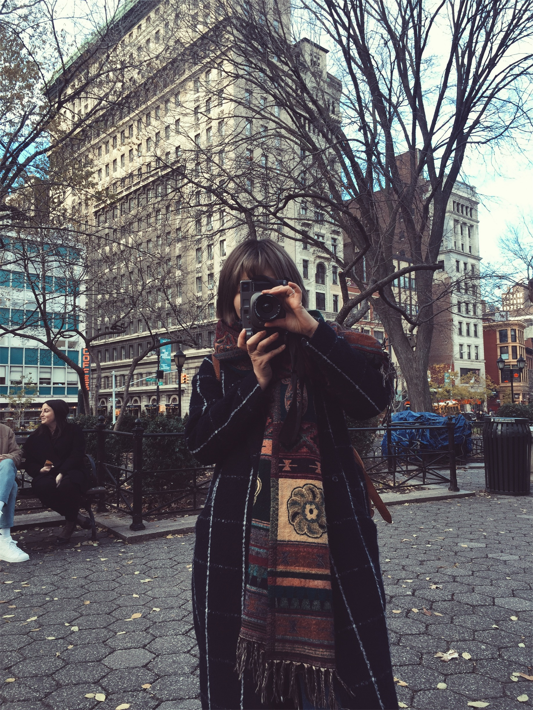 I showed her around town and she photographed me in the process.