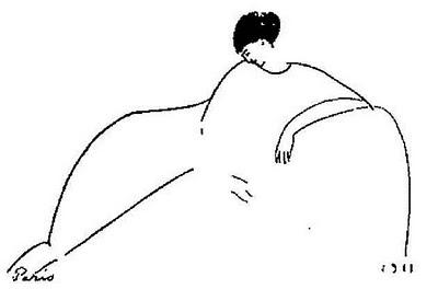 Anna Achmatova, disegno di Amedeo Modigliani