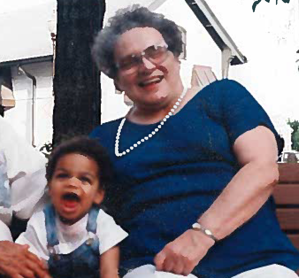 Our then-toddler son, Philip, with my mom, Grace Horowitz Lustig.