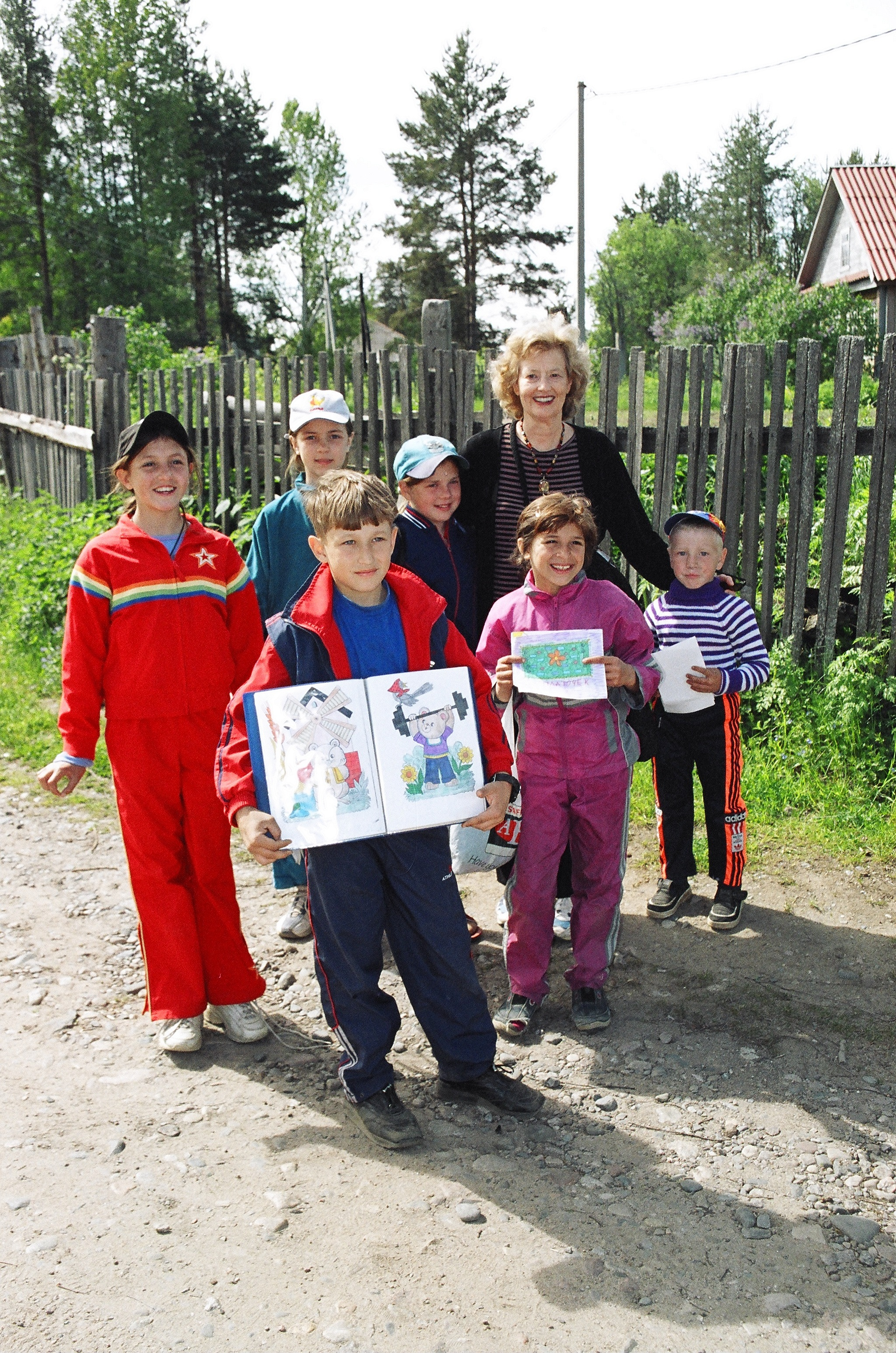 College Church missionary Anita Deyneka and some of her young Ukrainian friends.