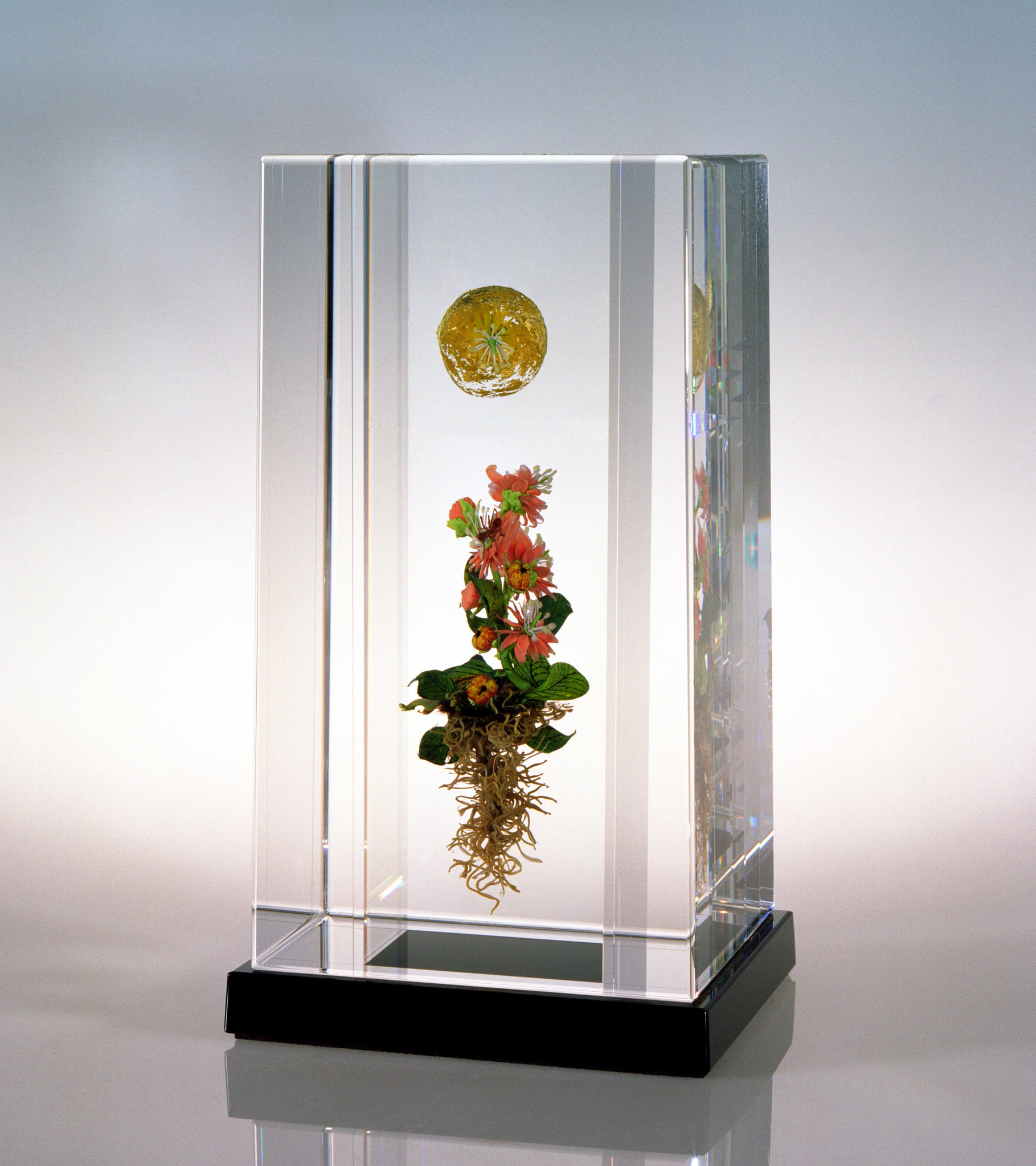 2004; Golden Orb Column, H. 7 5/8 inches x W. 3 7/8 inches x D. 4.0 inches