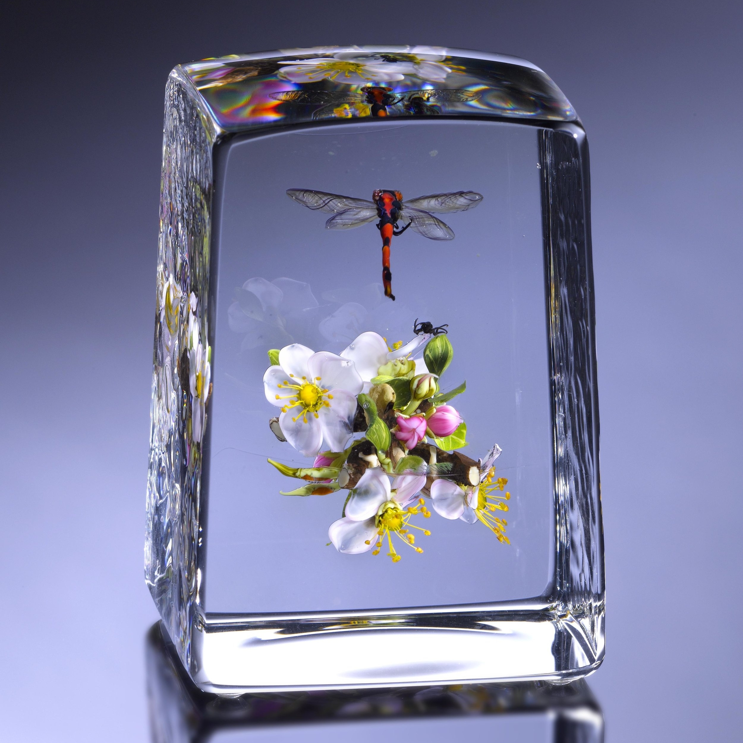 2011; Apple Blossoms with Buds, Human Form and Insects; H. 3 13/16 inches x L. 2 11/16 inches x W. 2 1/2 inches