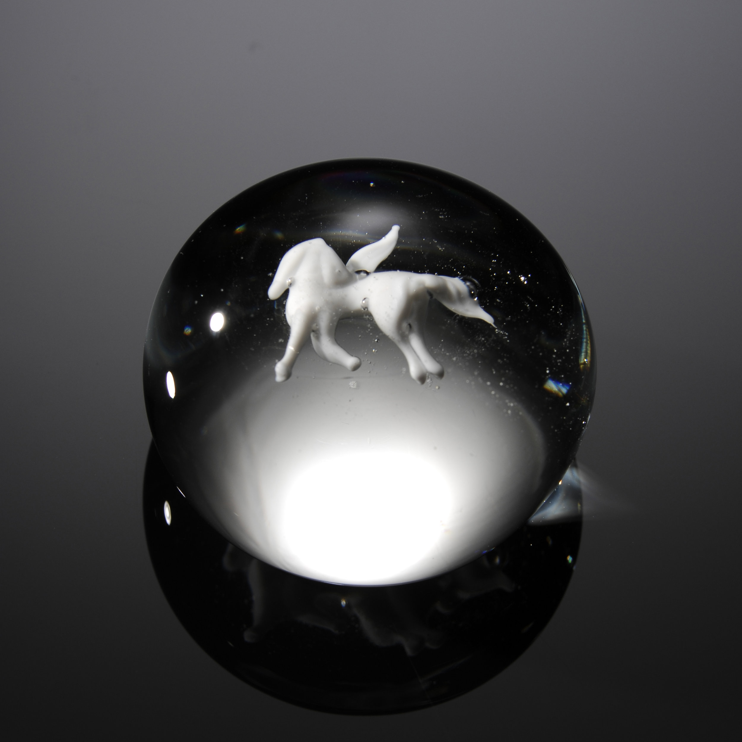 1969; Pegasus Paperweight; D. 1 3/4 inches x H. 1 1/8 inches