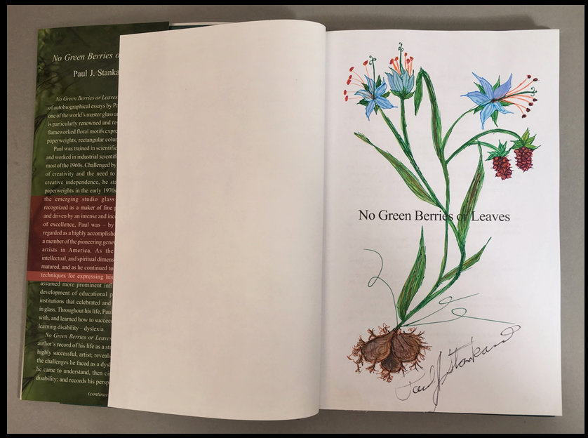 No Green Berries or Leaves: The Creative Journey of an Artist in Glass  Botanical drawing, hand-colored with gouache, signed, dated $175