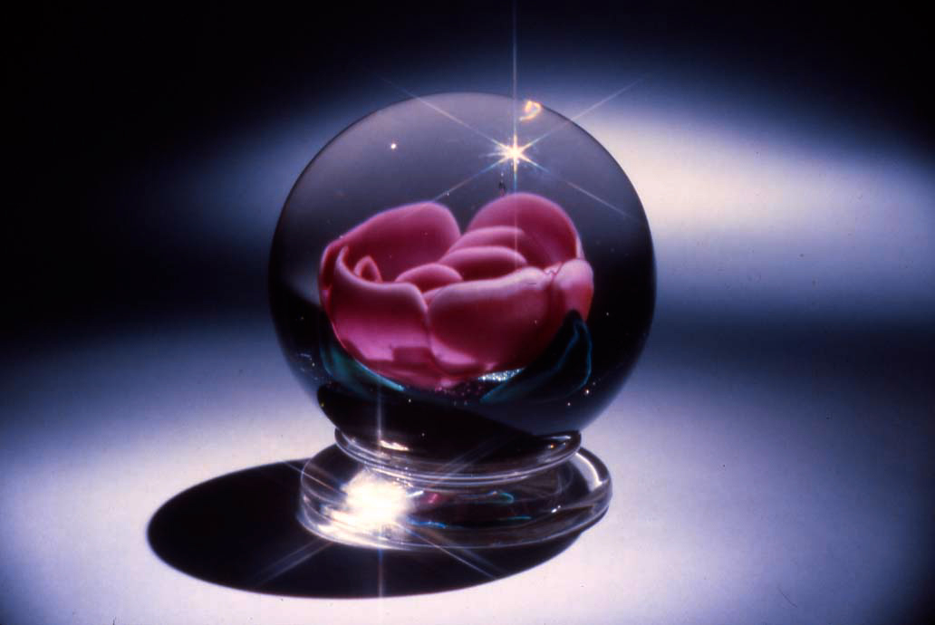 Millville Rose Paperweight