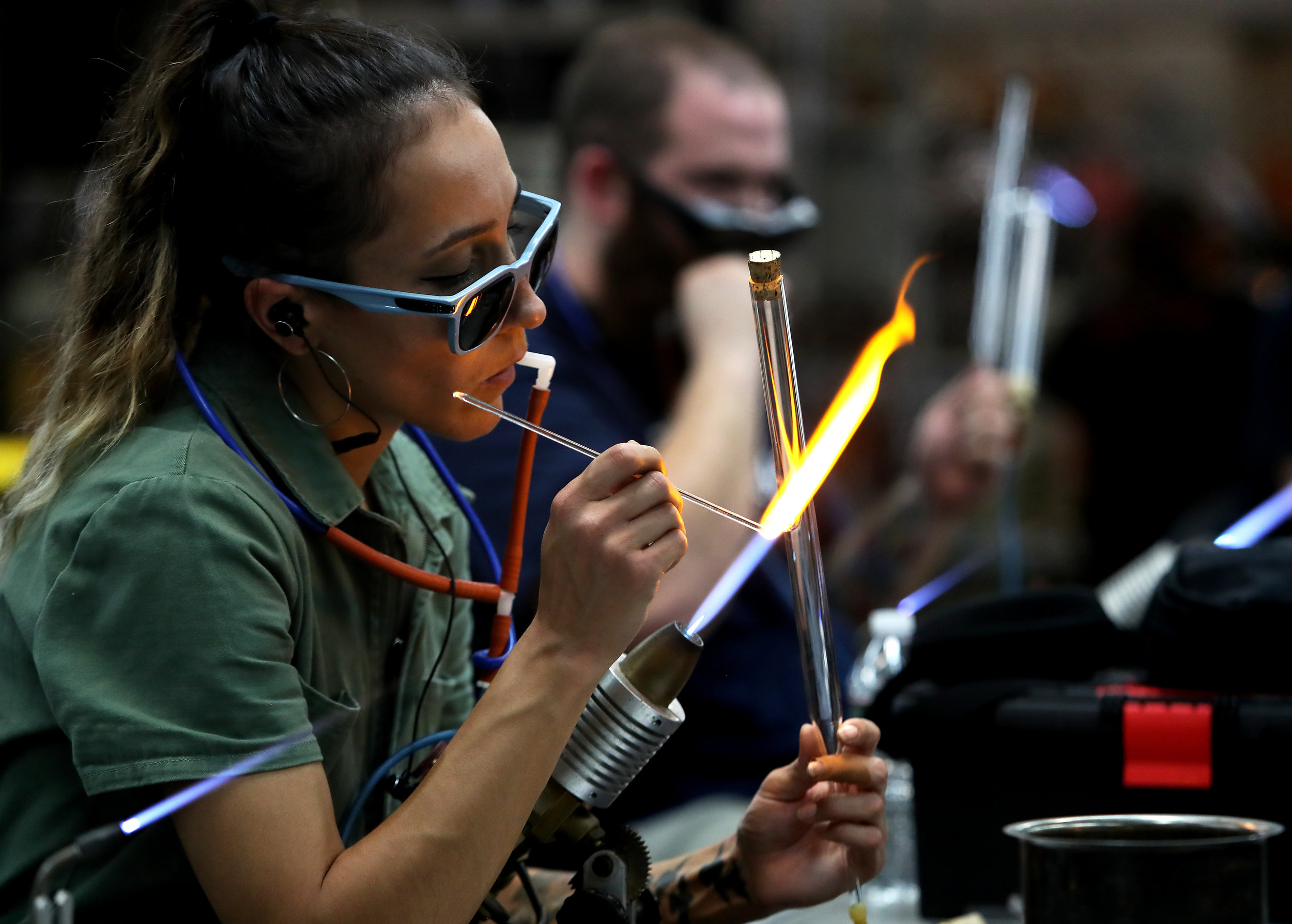 Scientific Glass Technology students develop a solid understanding of scientific glassblowing so they are able to fabricate apparatus according to technical specifications.