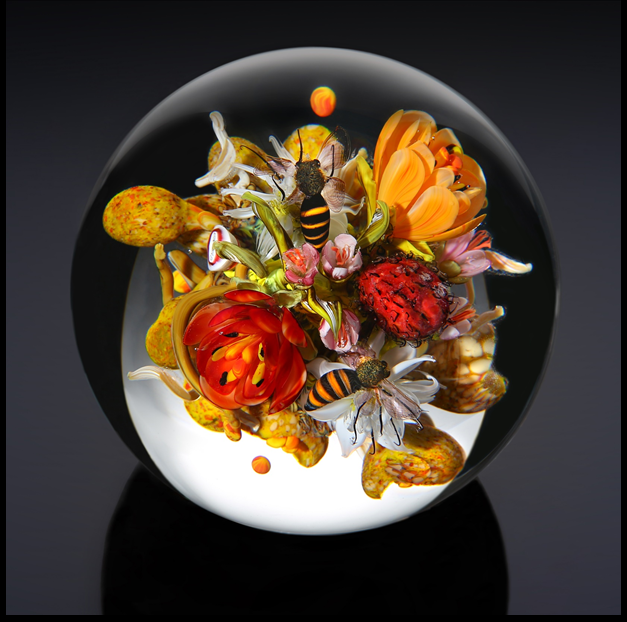 Emily Dickinson's Garden Bouquet   Orb D. 4.0 inches 2019 Photo: Jeff DiMarco SOLD