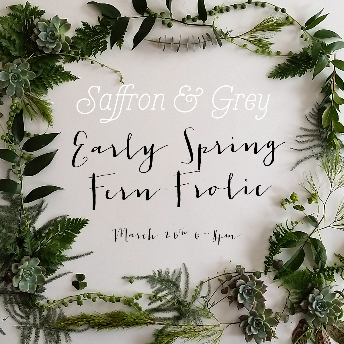 Cabin fever? We've got the cure! Join us on Thursday, March 26 from 6-8pm for an exclusive first look at our newly-remodeled design studio & classroom space. We'll have a chlorophyll-filed plant pop-up shop featuring trailing jungle vines, proud & prickly cacti, luscious ferns, & lots more! BONUS- don't miss our cool yet informative practical plant demonstrations, quaffable beverages & snacks galore! Get ready, it's about to get Garden of Eden up in here!