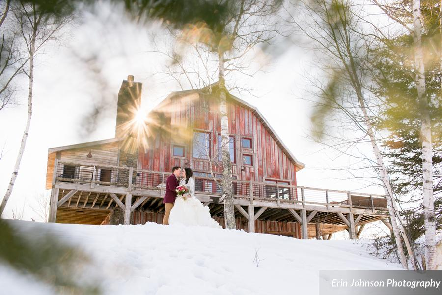 The Lake Superior Barn  was the PERFECT place to have a winter-inspired styled shoot!