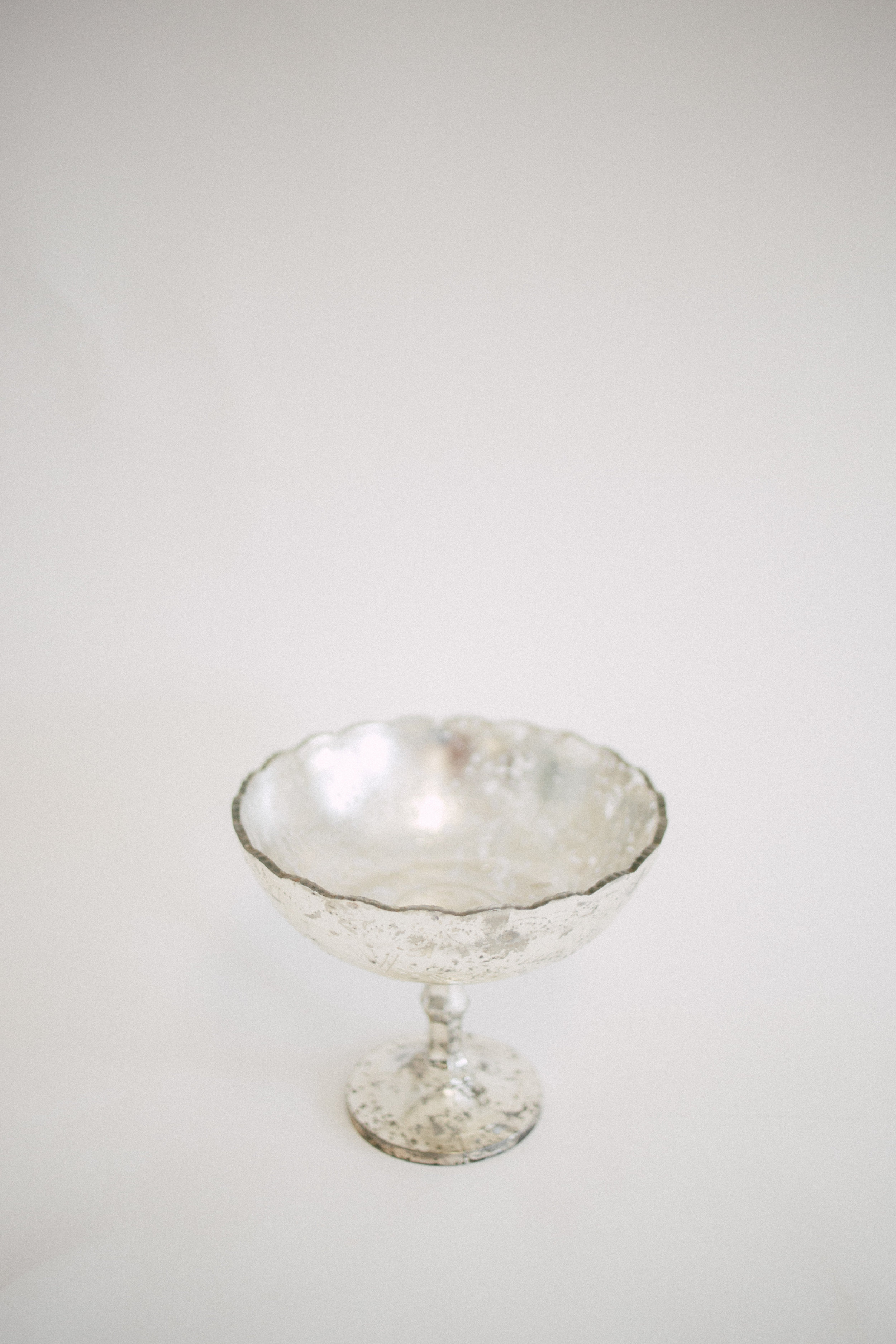 Short Mercury Glass Compote