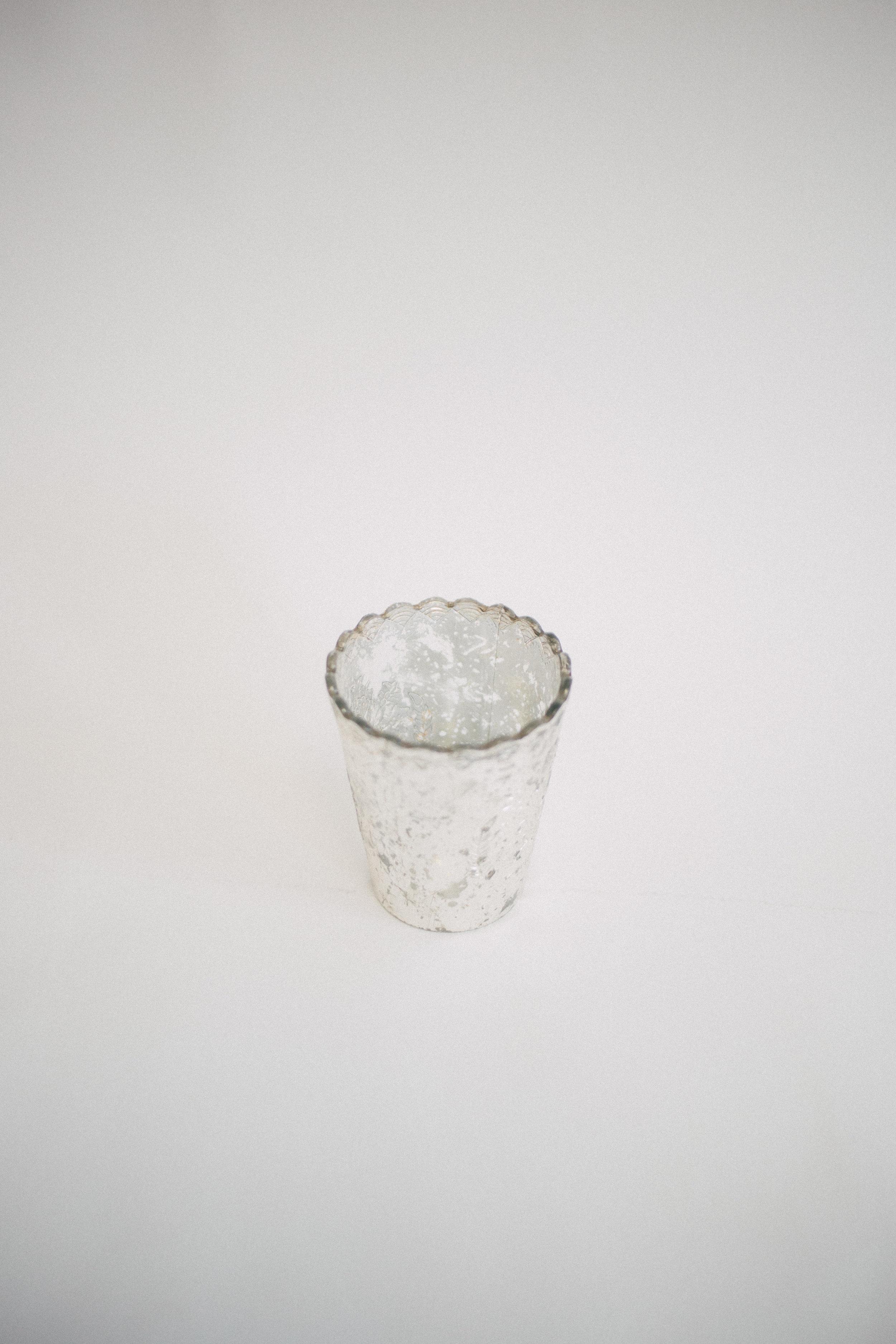 Small Mercury Glass Scallop