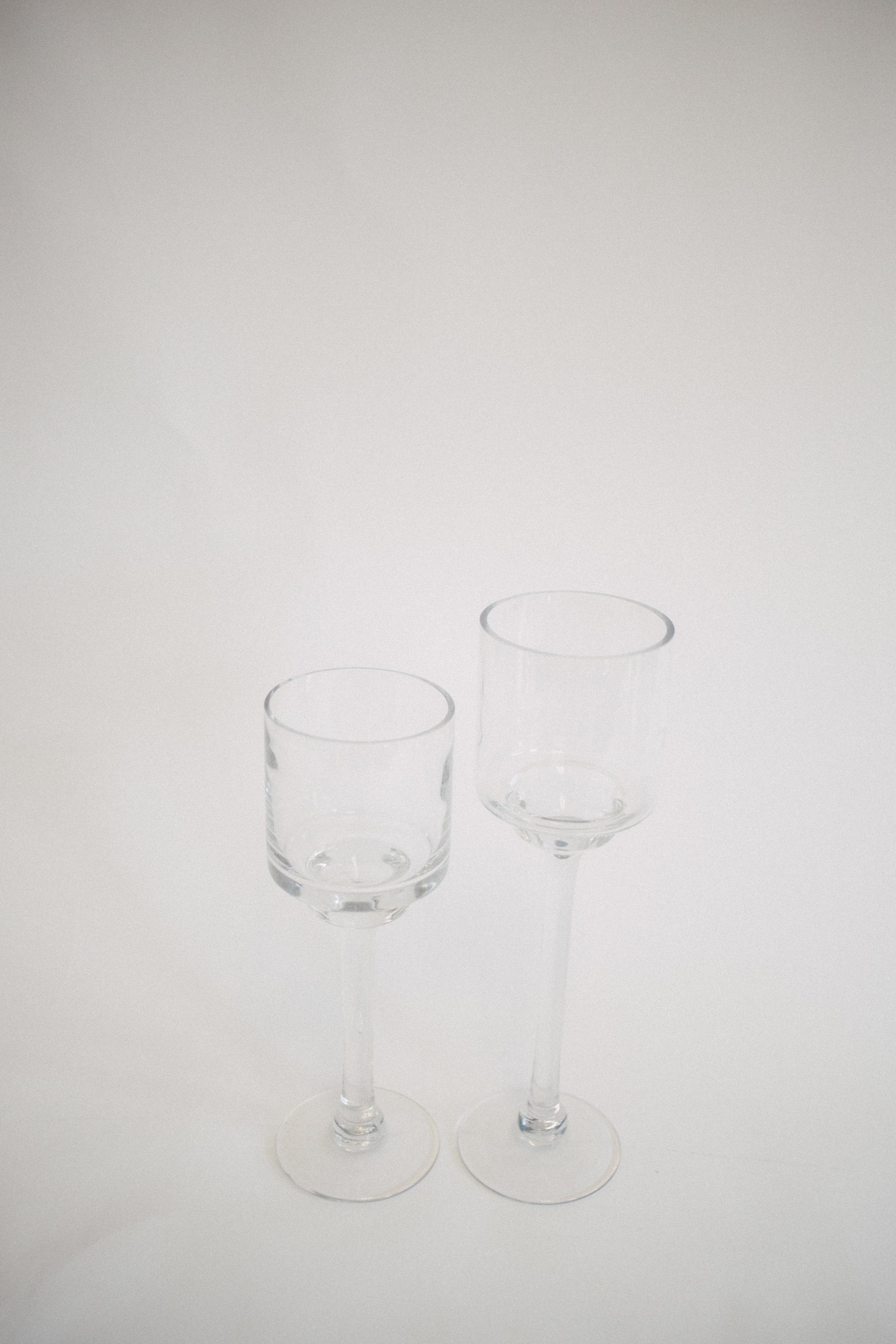 Glass wine vase