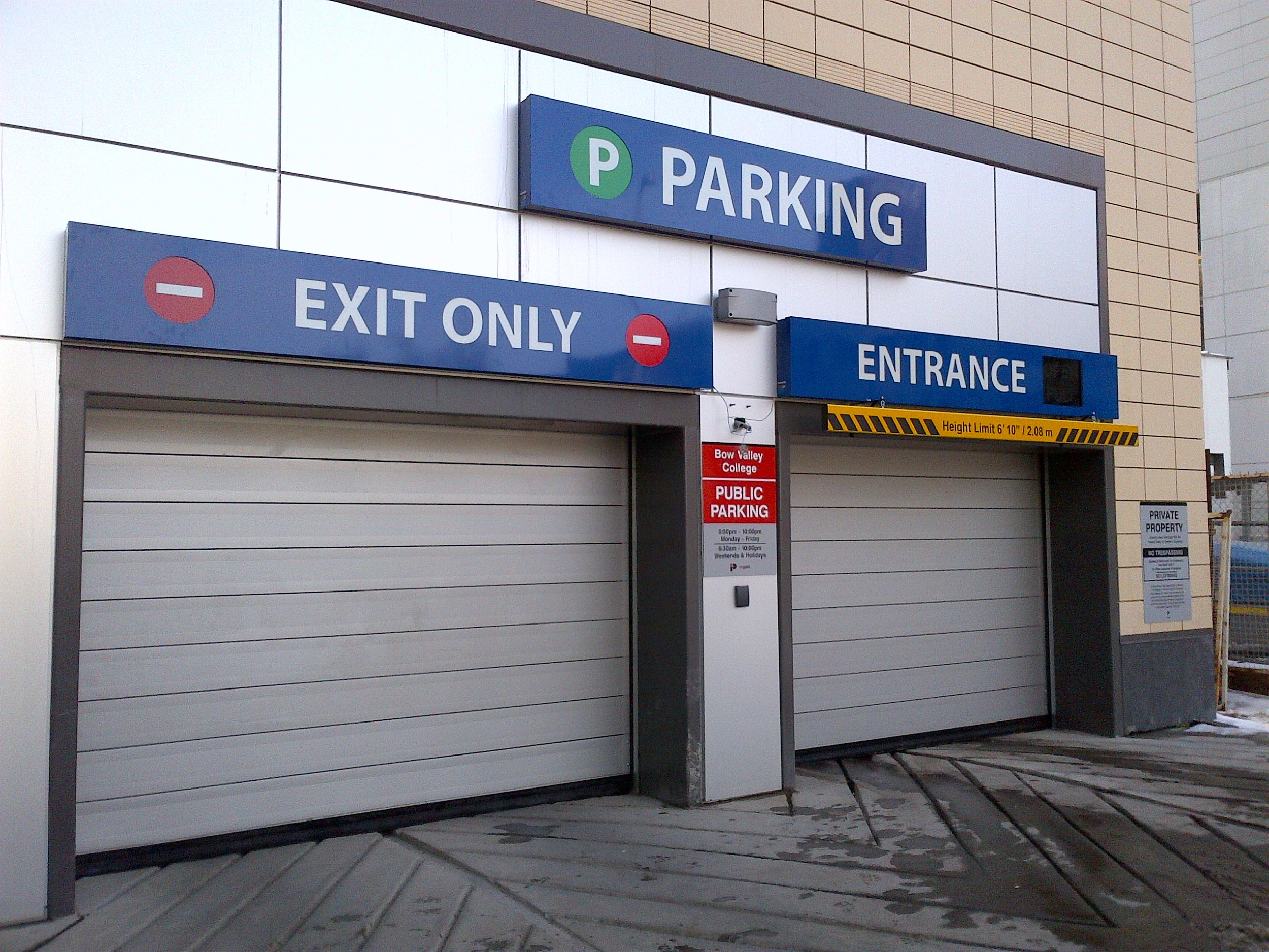 Bow Valley College Parkade signs.jpg