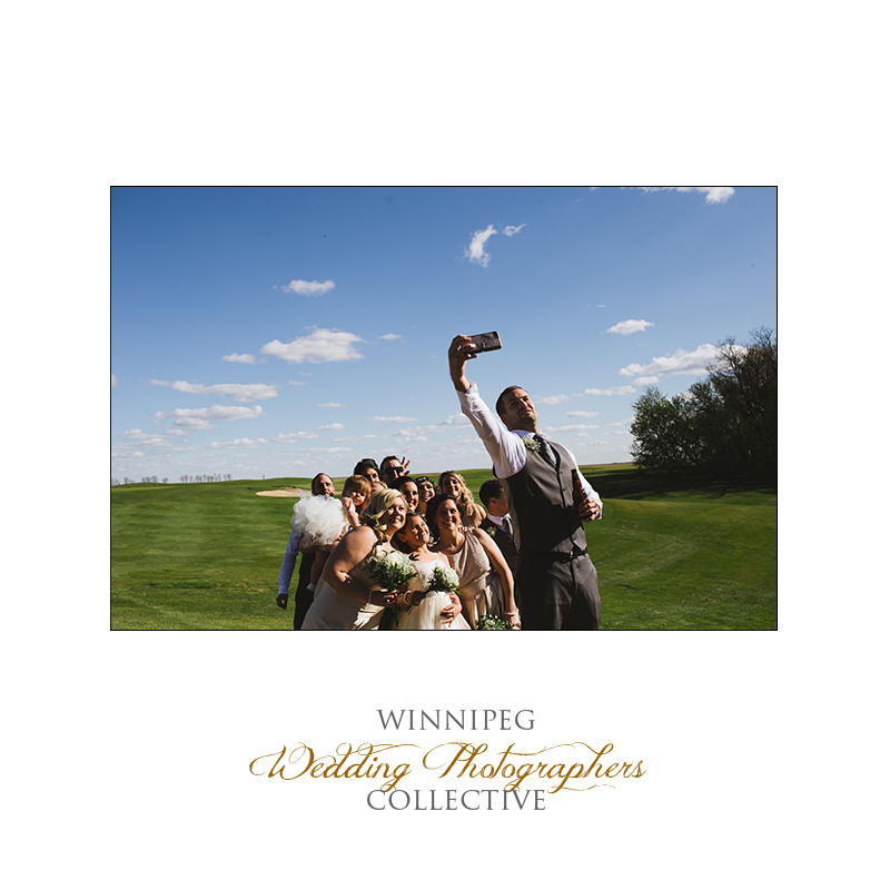 Wedding party photos at Bridges Golf Course
