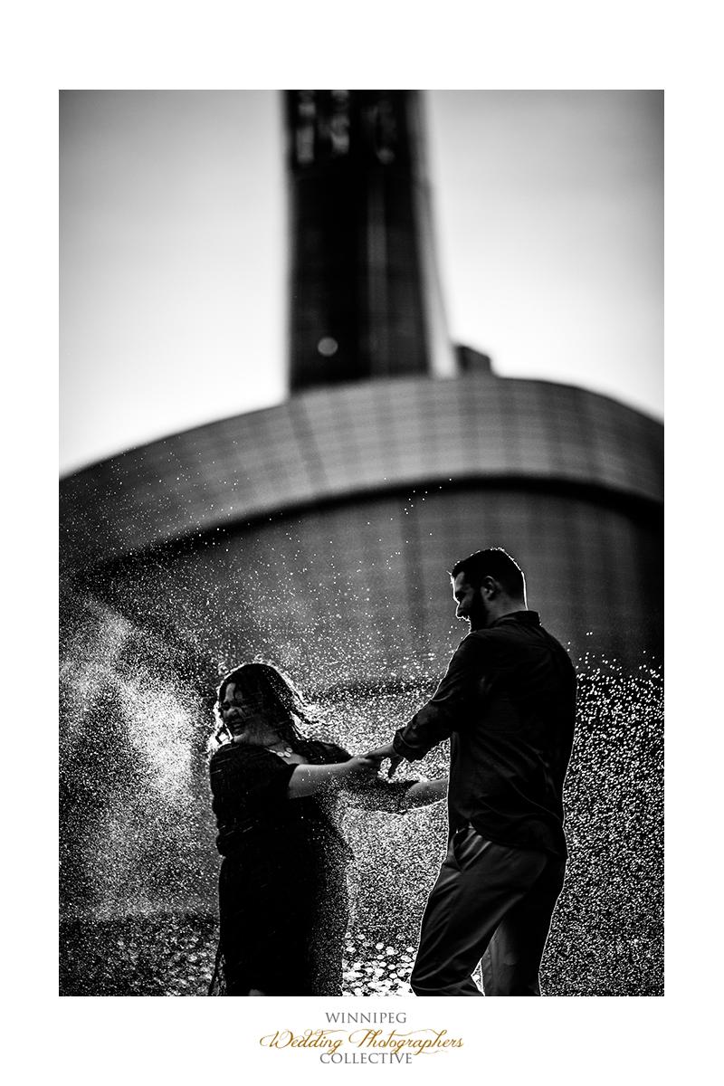 13 Sprinkler Rain Water Dark Edgy Engaged Engagement Shoot Tony.jpg.jpg
