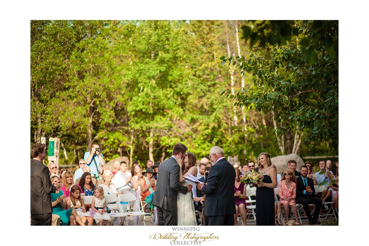 Outdoor wedding ceremony Fort Whyte Alive