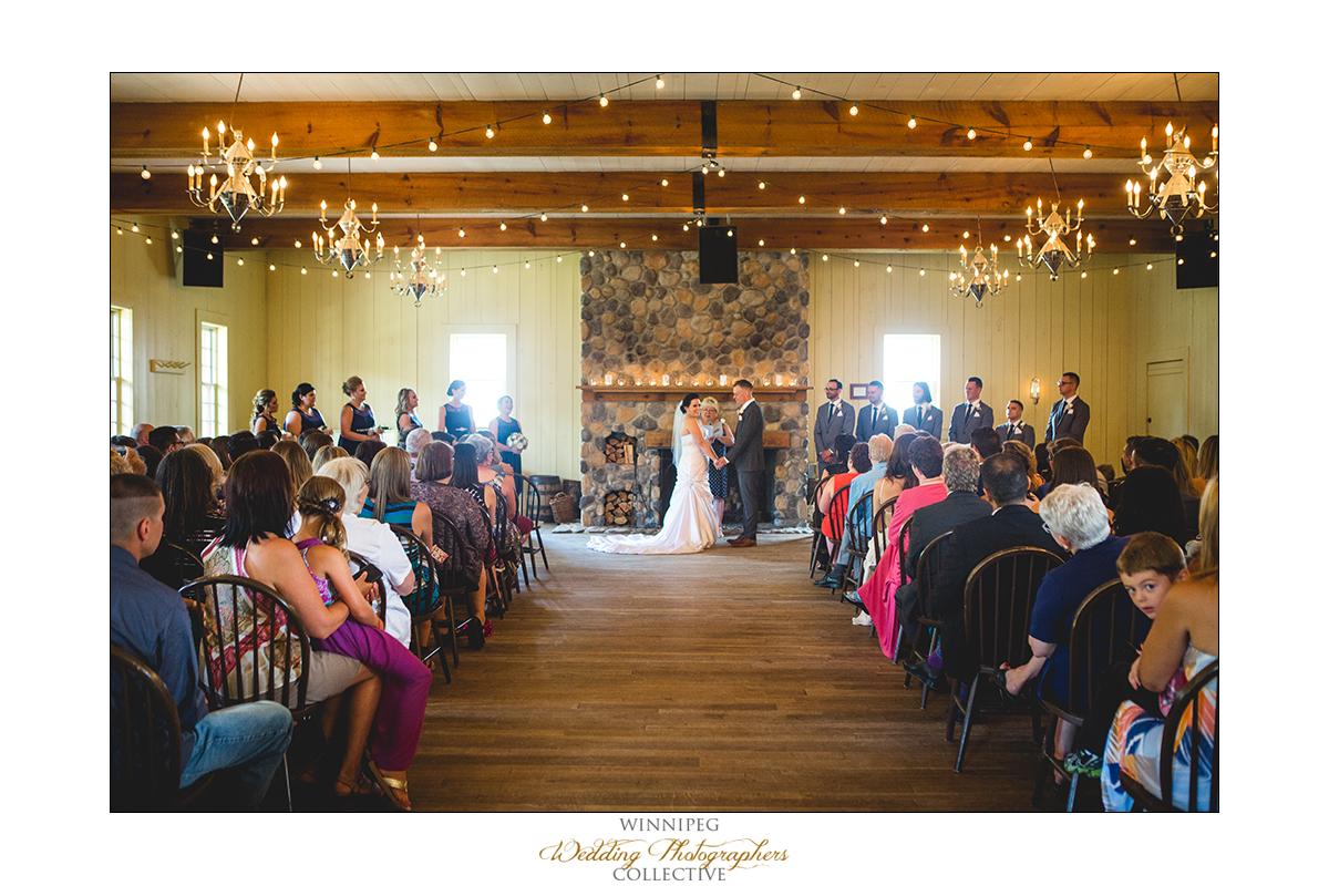 Wedding ceremony at Fort Gibraltar in Winnipeg