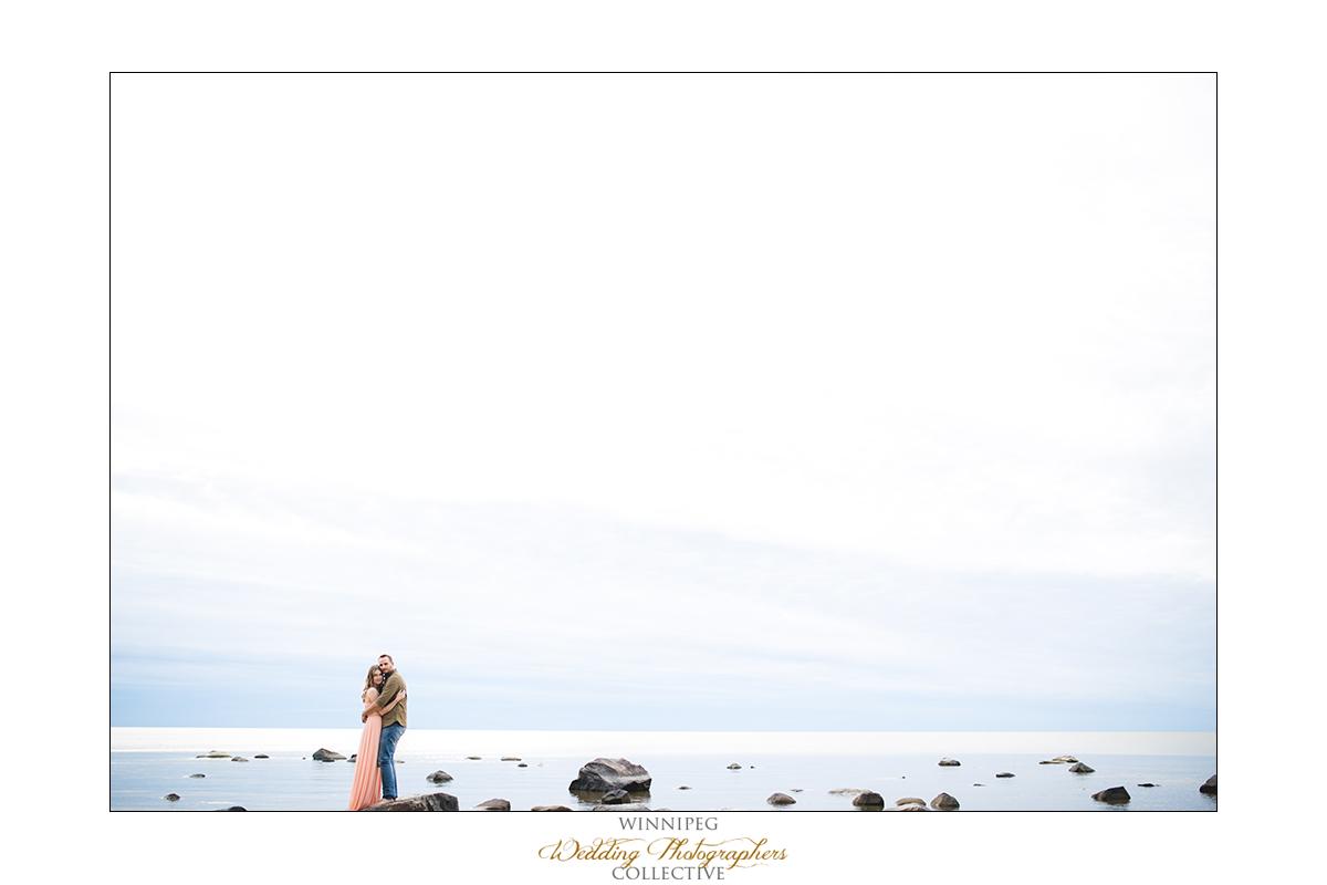 Beach engagement photos Manitoba