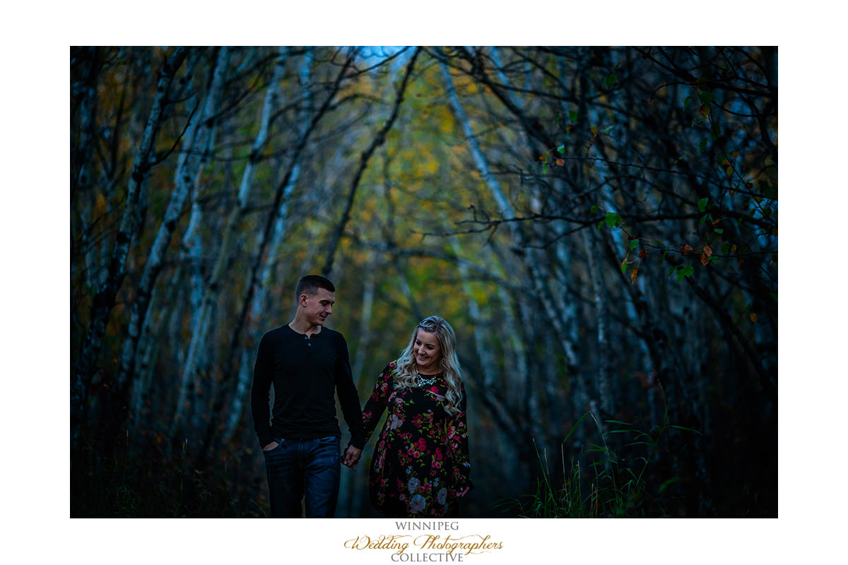 Engagement photos Assiniboine Forest