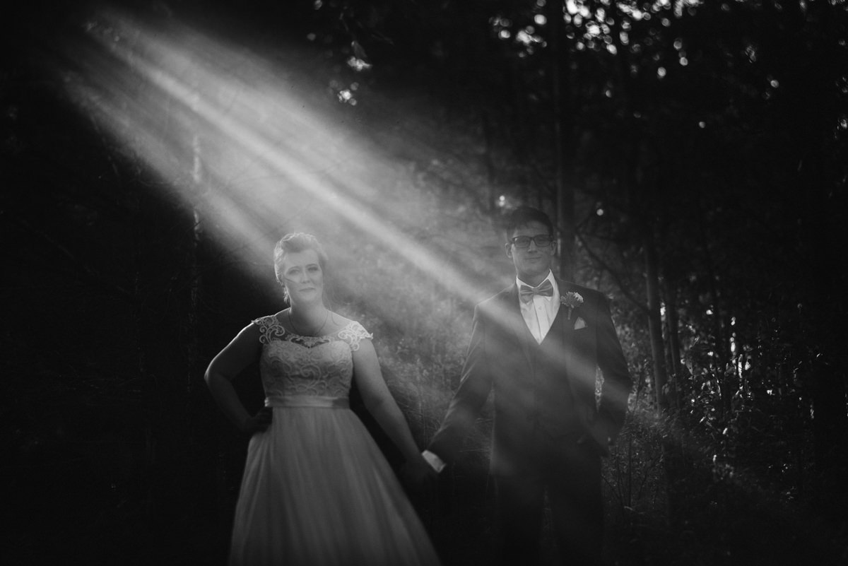 Creative bride and groom photo at Cielo's Garden
