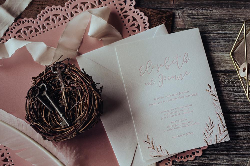 Lily Blossom Wedding Invites