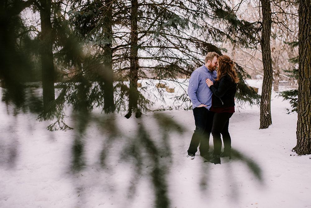 Backyard Skating Engagement Photos