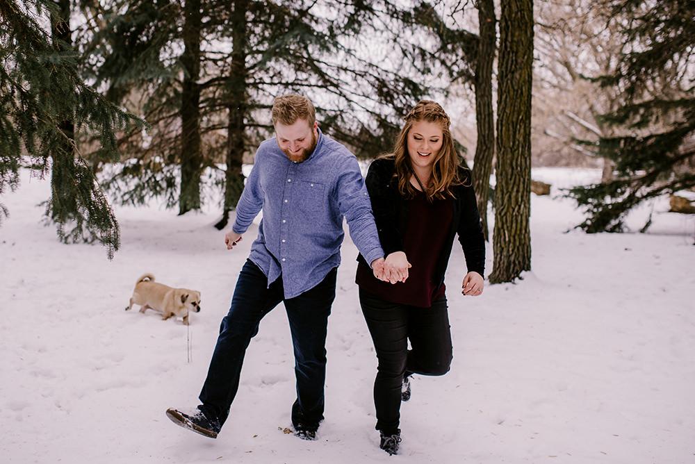 Winnipeg winter engagement photos