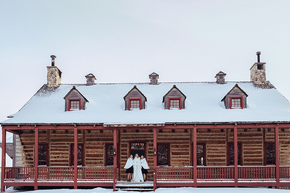 Fort Gibraltar Winter Wedding Photos