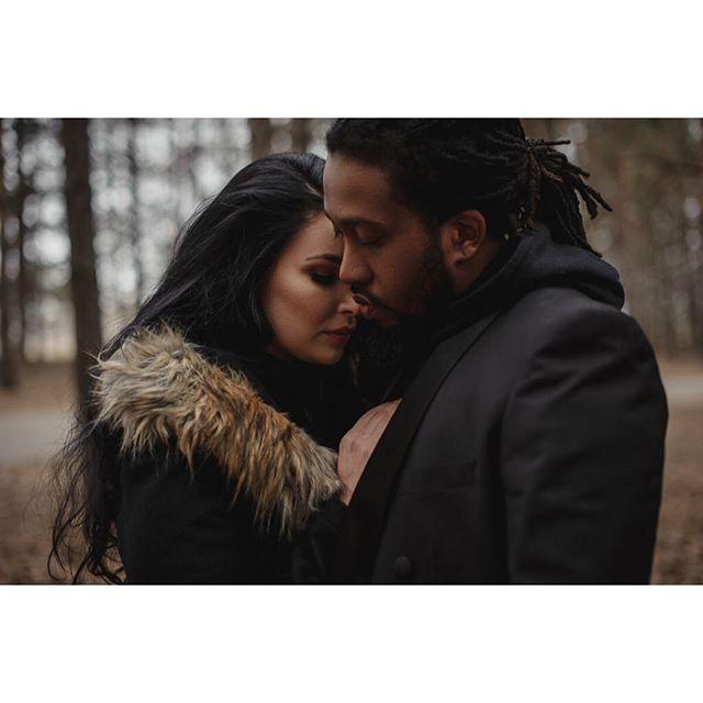 Andrea + Jamaal | 🖤 . . . . . #winnipegweddingphotographer #winnipegphotographer #engaged #couples #couplesgoals #loveandwildhearts #postthepeople #visualsoflife #makeportraits #shootandshare #photobugcommunity #belovedstories #radlovestories #soloverly #ido #lookslikefilm #picoftheday #quietthechaos #weddingphotomag #sisterphotogs #theknot