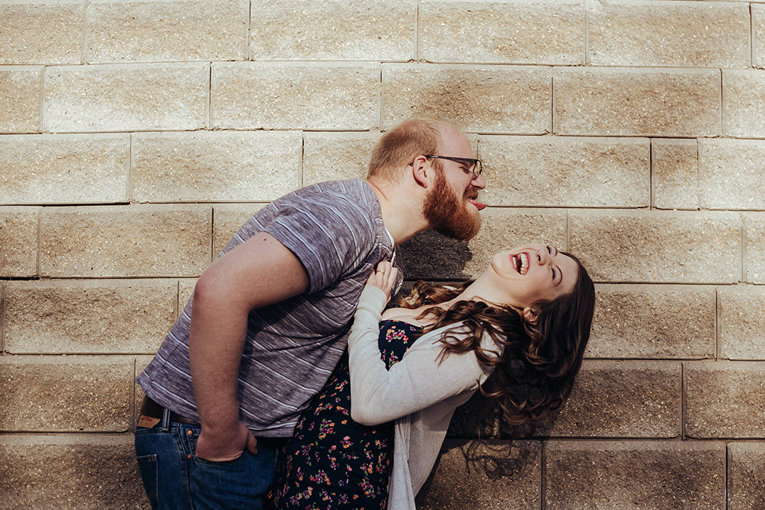 Engagement photos at the Forks Winnipeg
