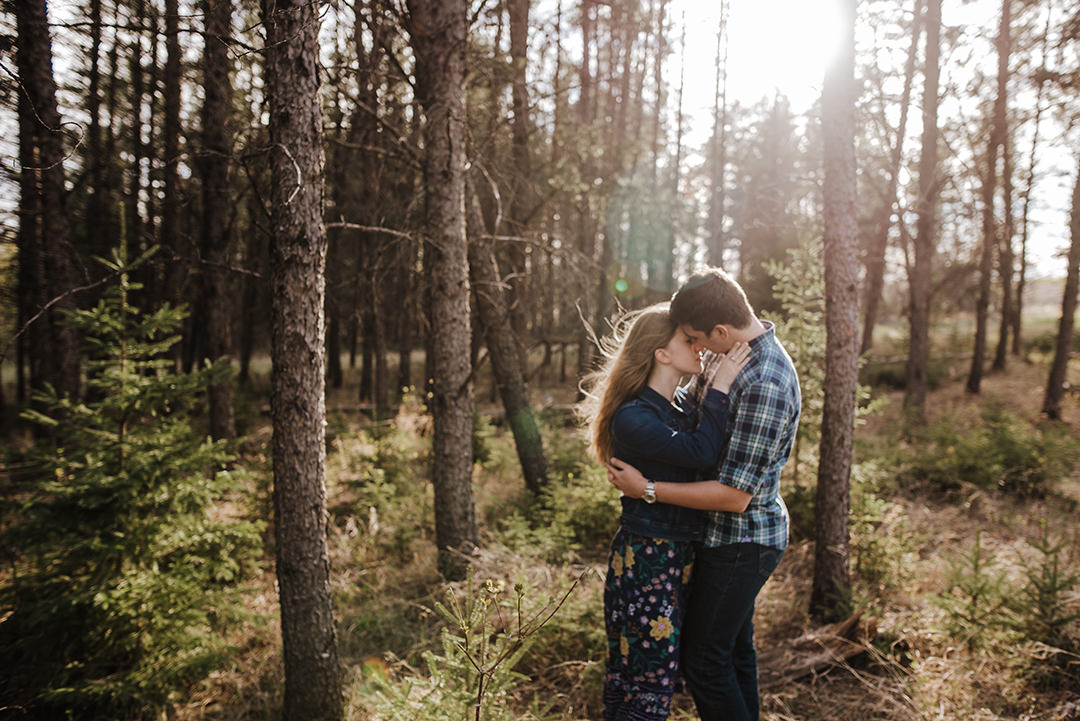 Woodlands Manitoba Engagement Photo
