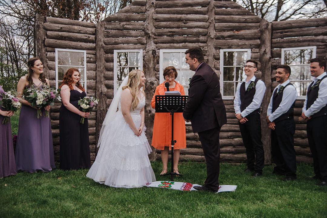 Winnipeg La Lune outdoor wedding venue ceremony