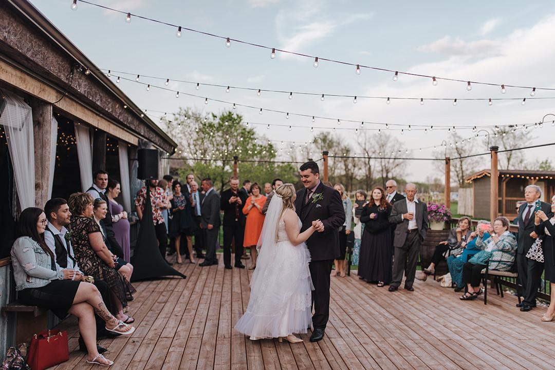 Winnipeg La Lune outdoor wedding venue first dance photo